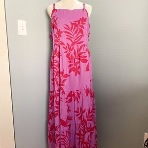 NWT Old Navy Floral Maxi Red Purple BoHo